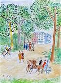 Jean Dufy Watercolor on paper in the style of