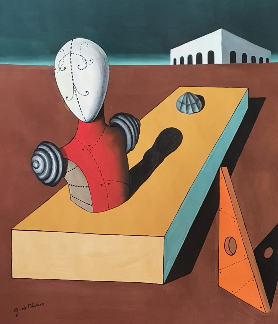 Giorgio de Chirico (Gouache on Paper) In the Style of