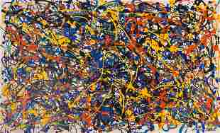 Jackson Pollock (Oil on Canvas) in the style of