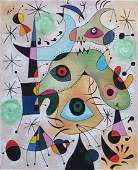 Joan Miro (Oil on Canvas) In The Style of