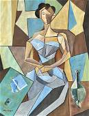 Jean Metzinger Watercolor on Paper In the style of