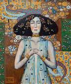 Gustav Klimt (Oil on Canvas)