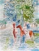 Jean Dufy (Watercolor on paper)