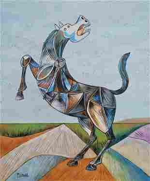 Pablo Picasso (Gouache on Paper)