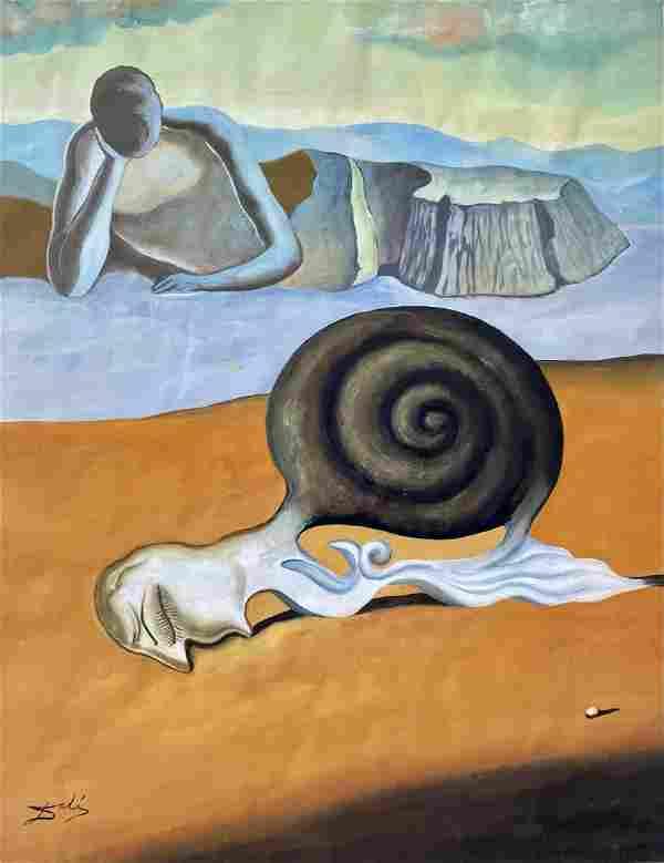 Salvador Dali (Gouache on Paper)
