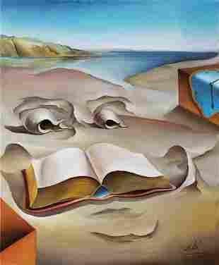 Salvador Dali (Oil on Canvas)