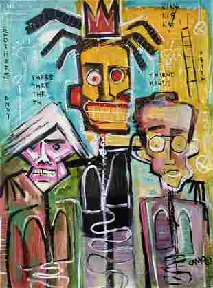 Jean Michel Basquiat (Acrylic on Paper)