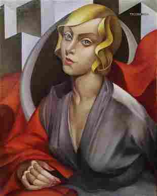 Tamara de Lempicka (Oil on canvas)