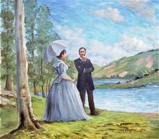 Claude Monet (Oil on Canvas)