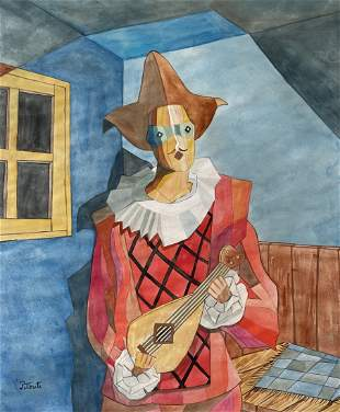 Emilio Pettoruti (Watercolor on Paper)