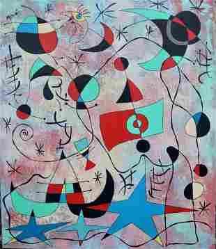 Joan Miro (Oil on Canvas)