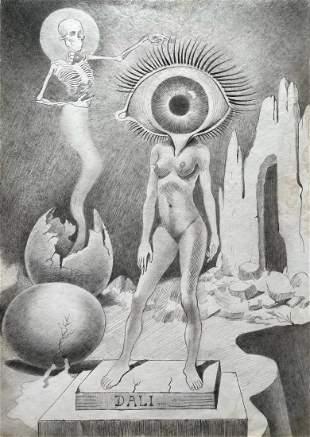 Salvador Dali (Pencil on Paper)
