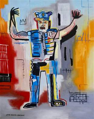 Jean Michel Basquiat (Oil on Canvas)