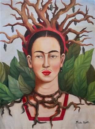 Frida Kahlo (Oil on Canvas)