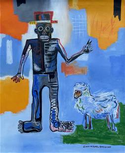 Jean Michel Basquiat (Acrylic on Canvas)