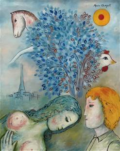 Marc Chagall (Oil on canvas)