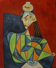 Pablo Picasso (Oil on canvas)