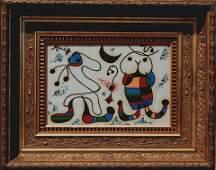Joan Miro (oil on paper)