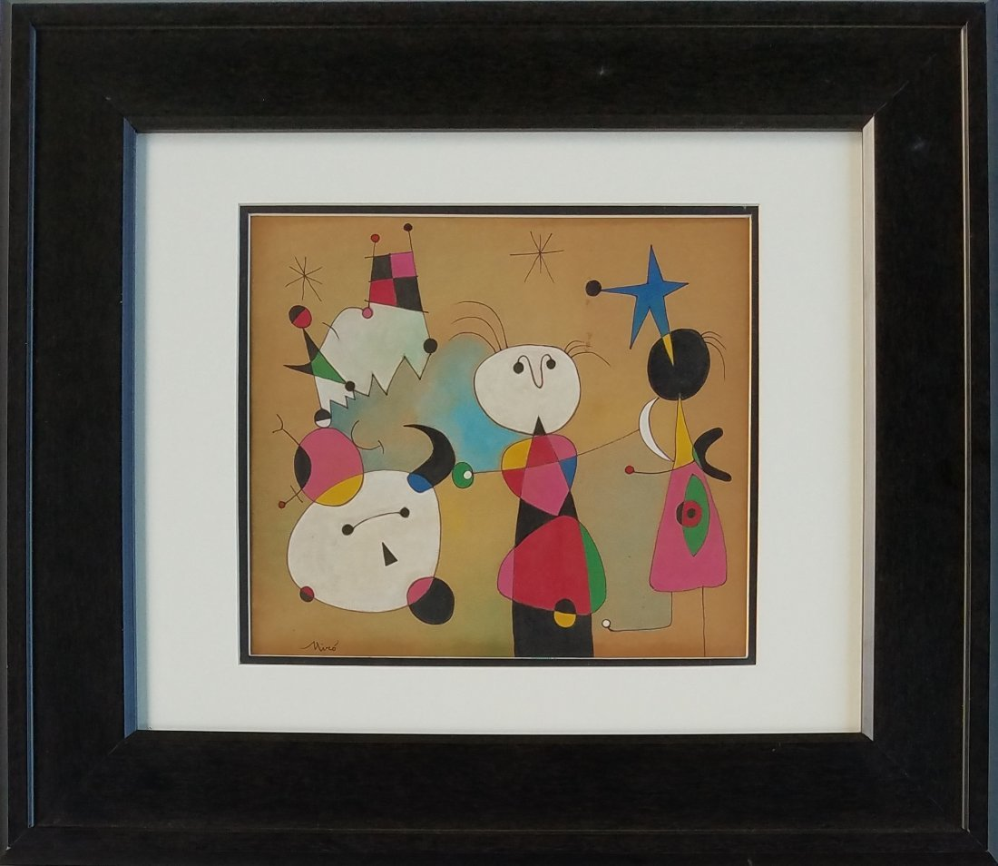 Joan Miro (mixed media on paper)