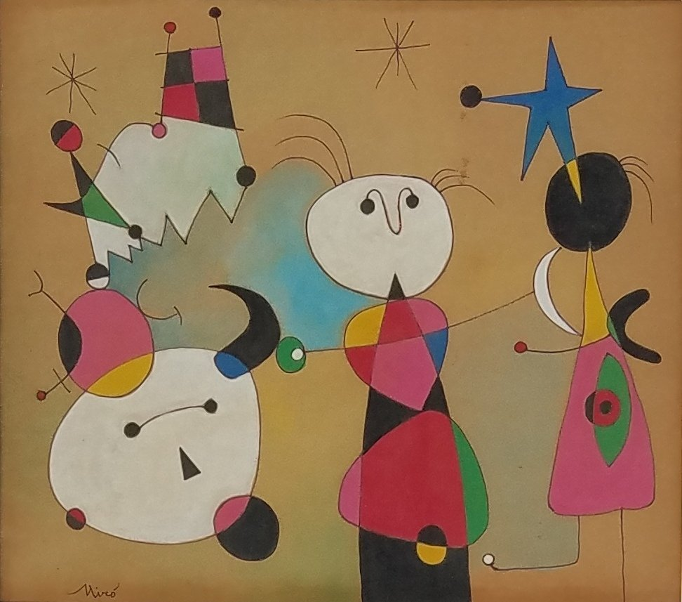 Joan Miro (mixed media on paper) - 2