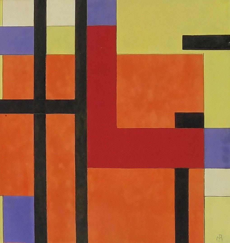 Piet Mondrian (Gouache on paper)