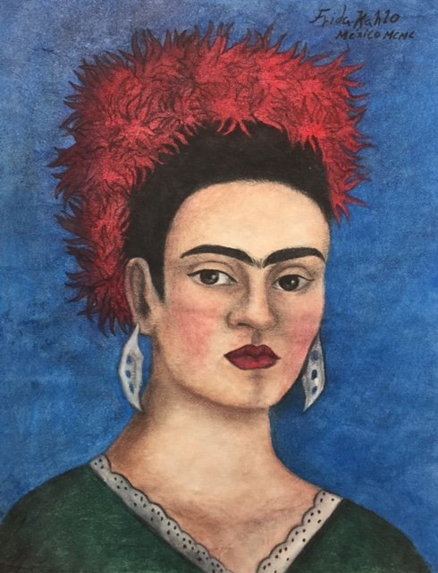 Frida Kahlo (Pastel on paper)