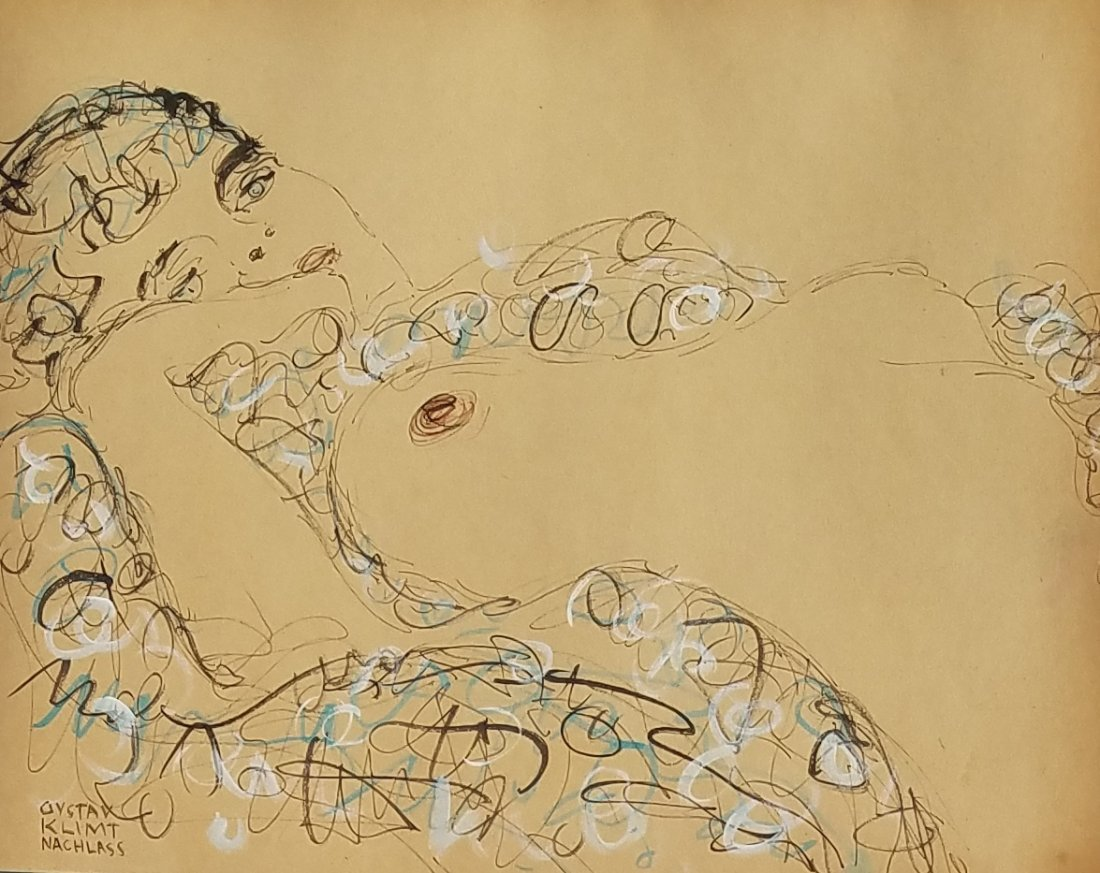 Gustav Klimt (Ink and watercolor on paper) - 2