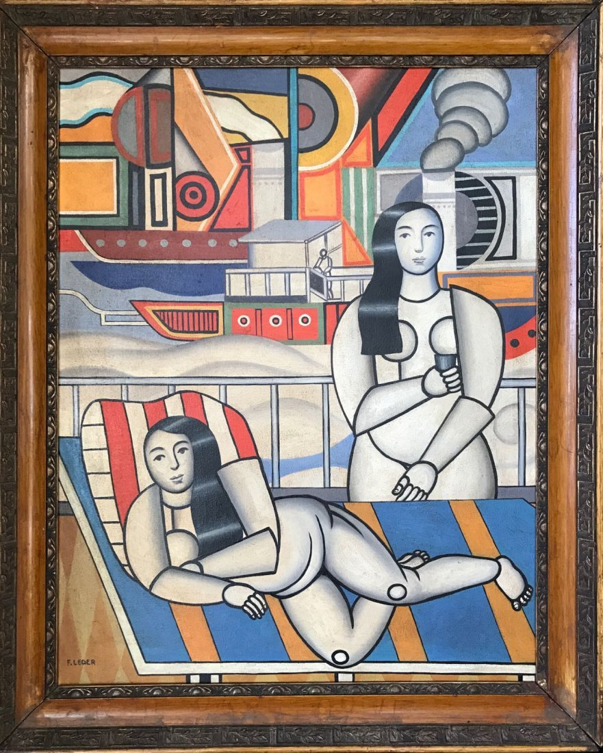 Fernand Leger (1881-1955)(Oil on canvas)