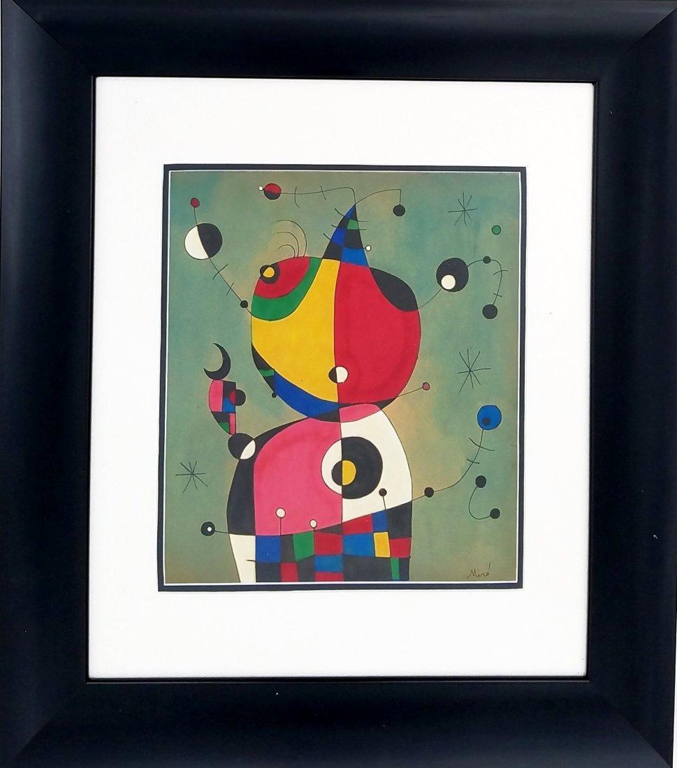 Joan Miro (mixed media on paper)