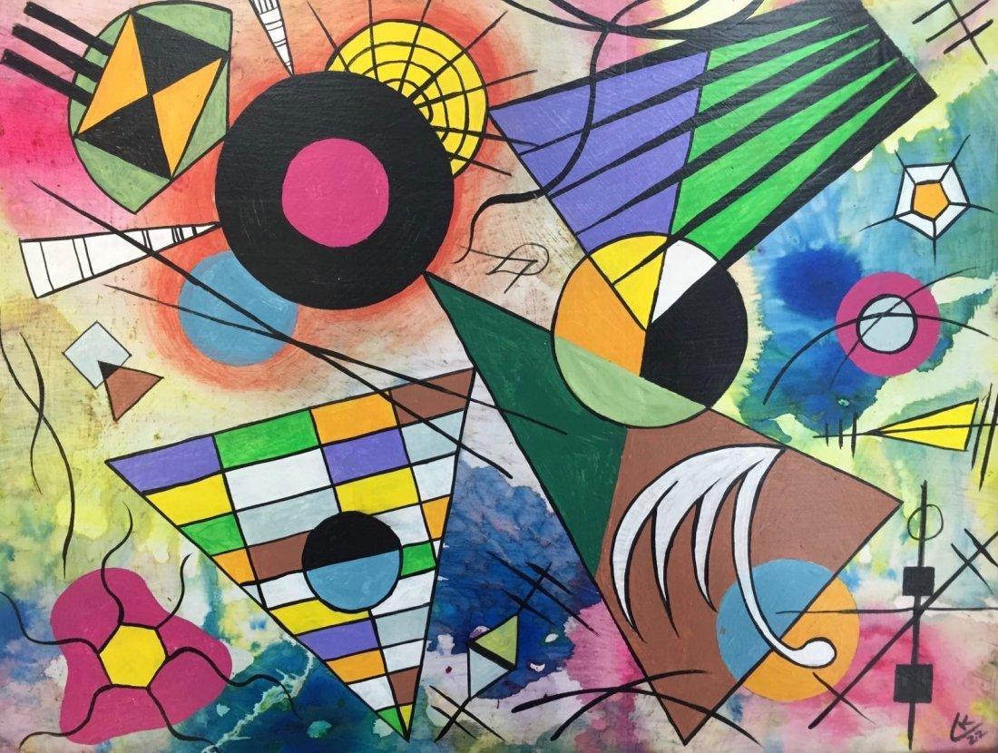 Wassily Kandinsky(1866-1944) Oil on board