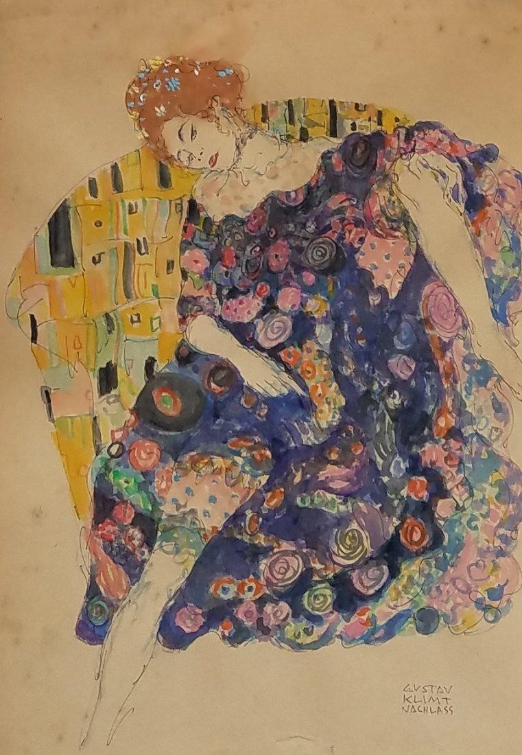Gustav Klimt (Mixed media on paper)
