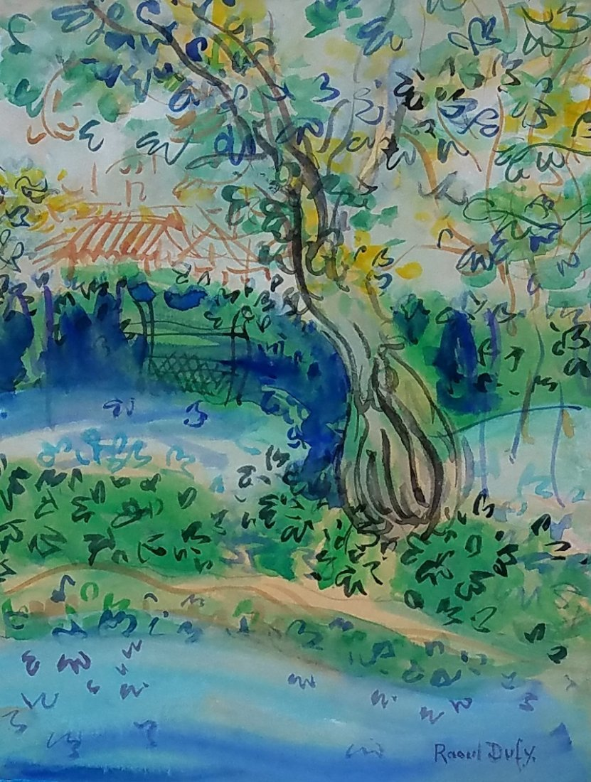 Raoul Dufy (watercolor on paper )