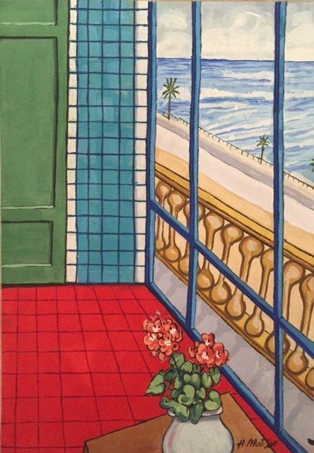 Henri Matisse (Gouache on cardboard)