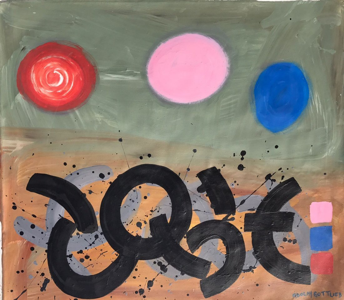 Adolph Gottlieb (1903-1974) Oil on canvas