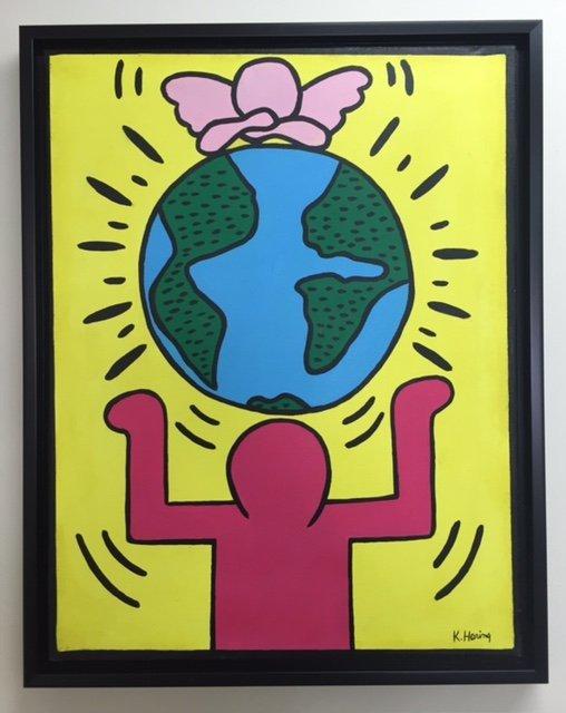 Keith Haring (1958-1990)Acrylic on canvas