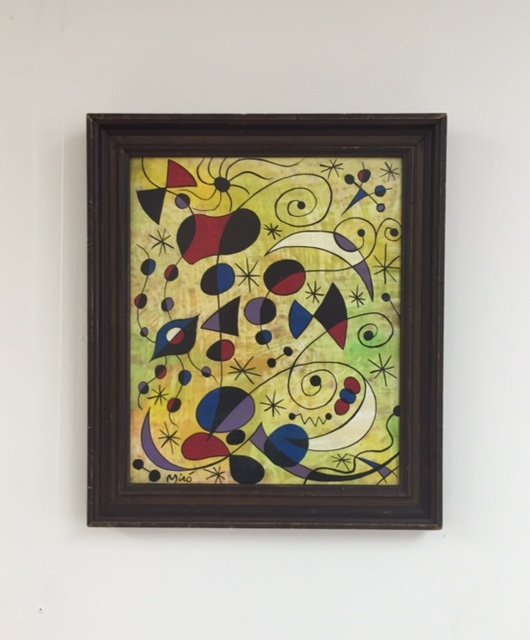 Joan Miro (1893-1983) oil on board