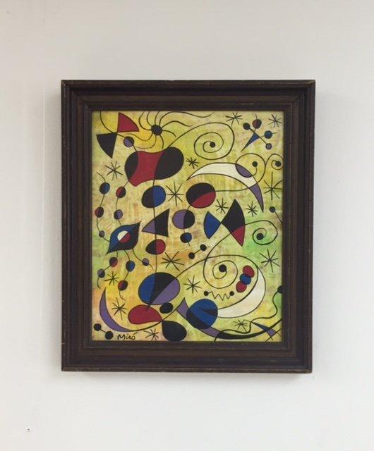 Joan Miro (1893-1983) oil on board