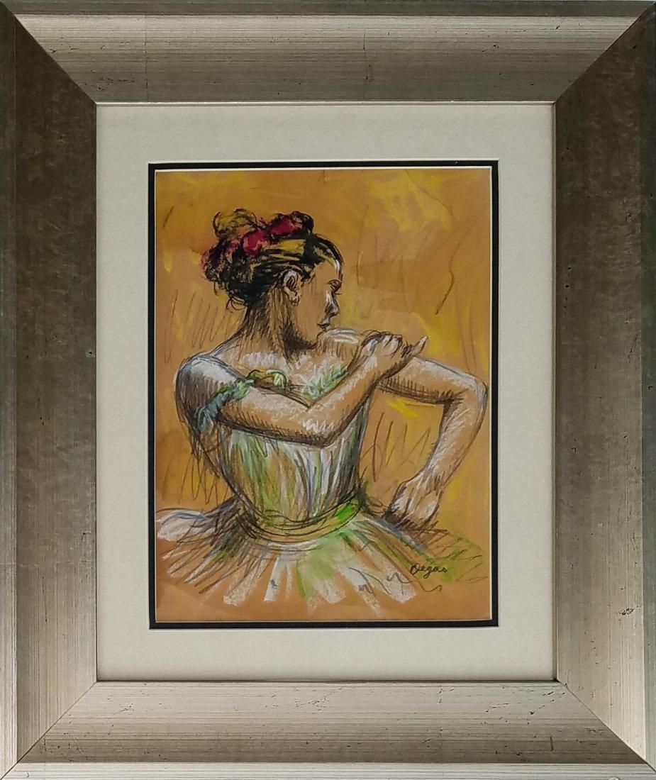 Edgar Degas (Pastel on paper)
