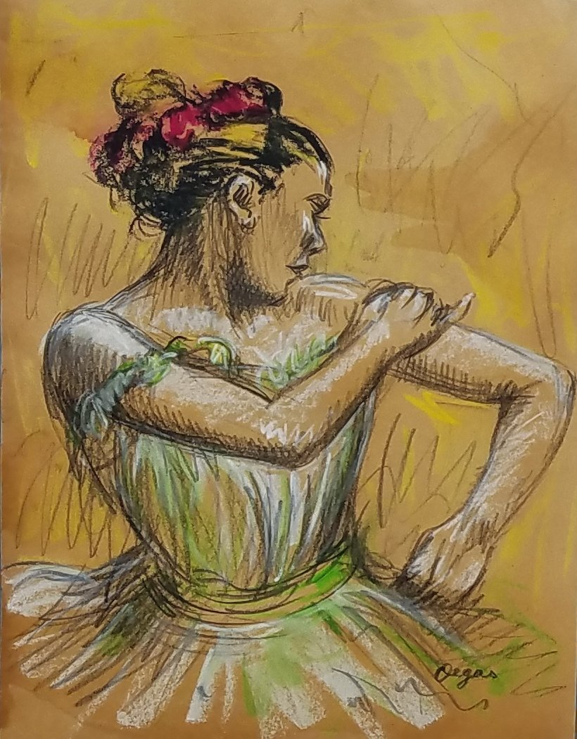 Edgar Degas (Pastel on paper) - 2