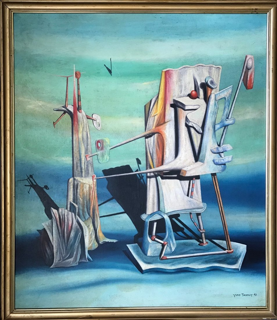 Yves Tanguy (1900-1955) Oil on canvas