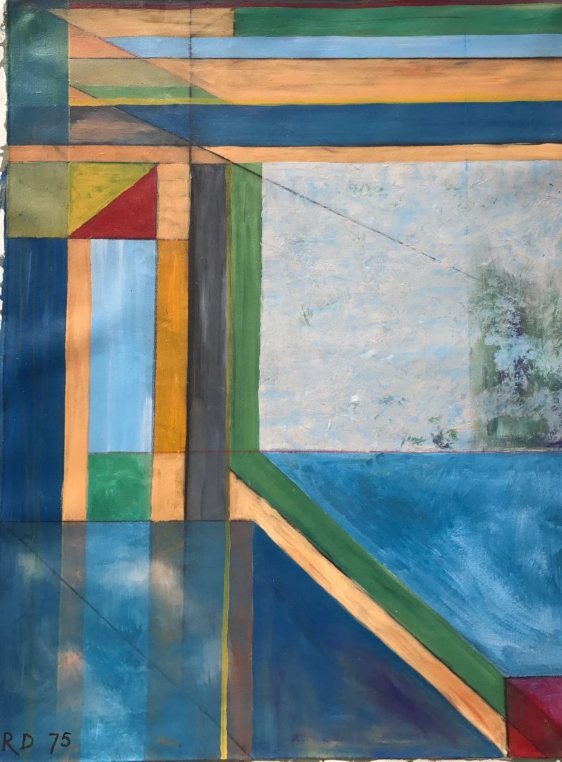 Richard Diebenkorn (1922-1993) Oil on Canvas
