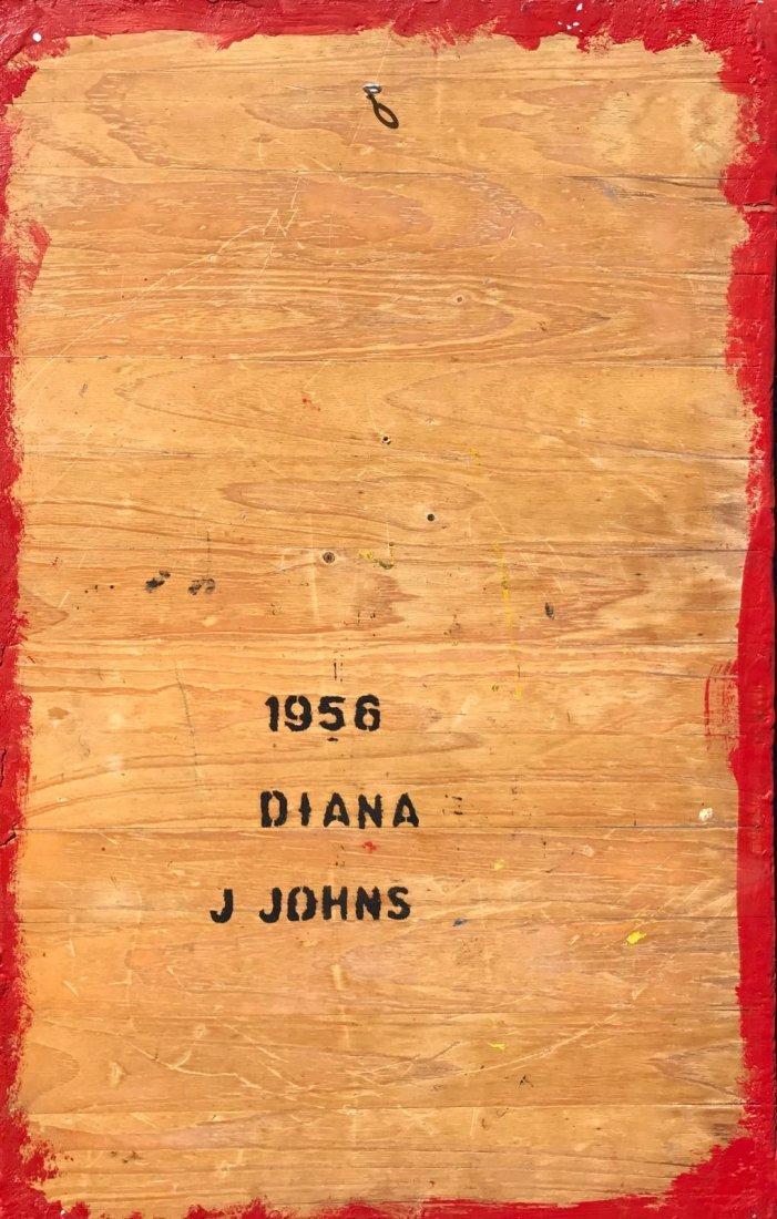 Japer Johns (B.1930) Mixed Media on Board - 3