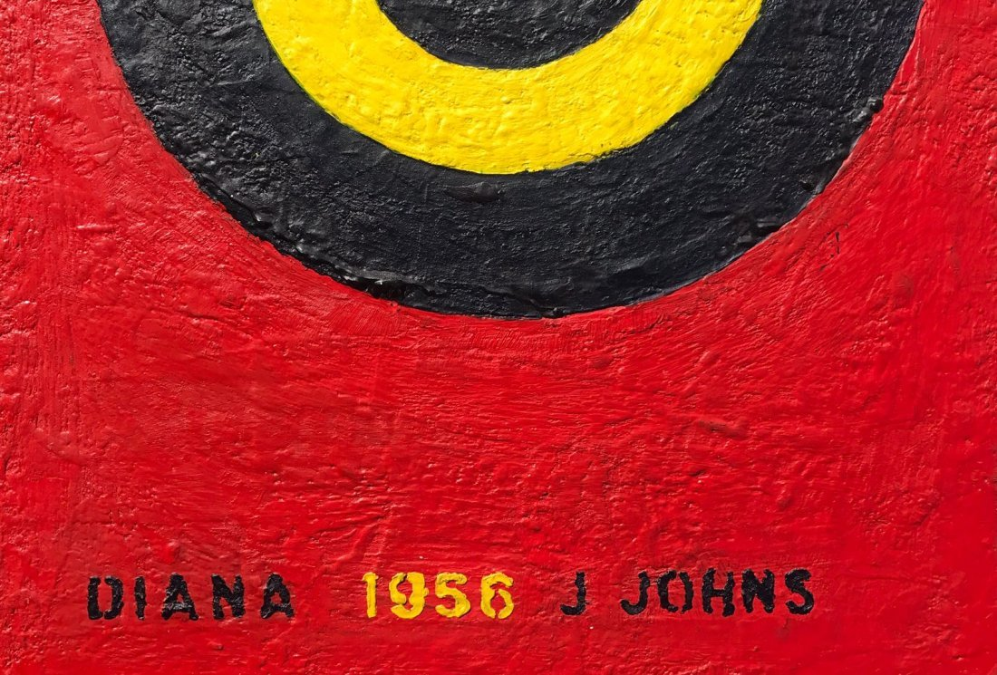 Japer Johns (B.1930) Mixed Media on Board - 4