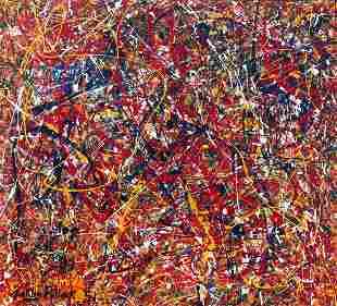 Jackson Pollock ( 1912-1956) Oil On Canvas