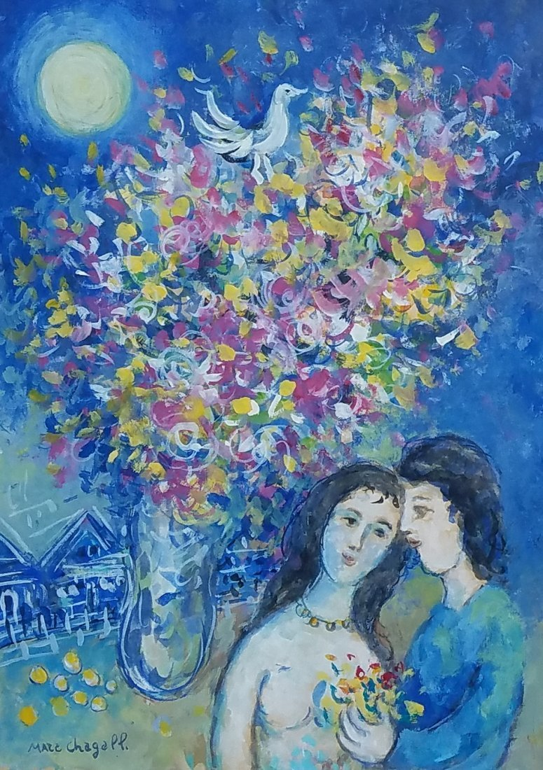 Marc Chagall (gouache on paper)