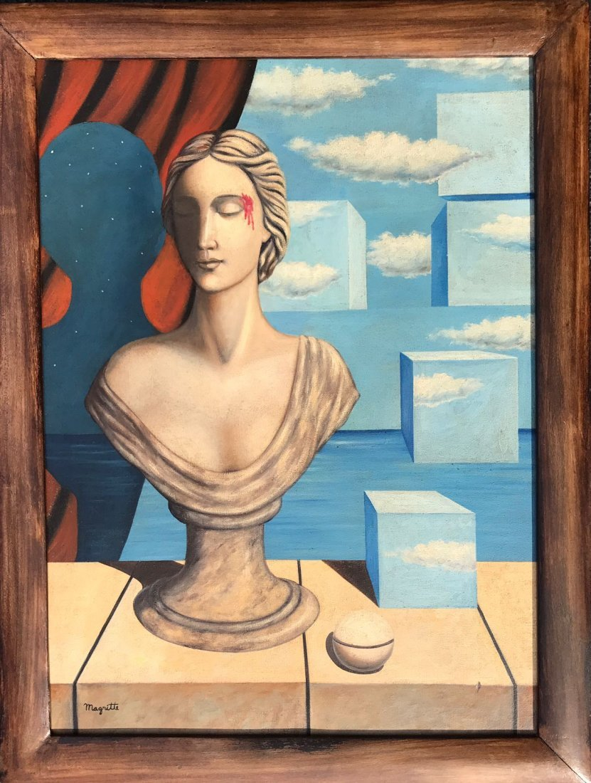 Rene Magritte (1898-1967) Oil On Canvas
