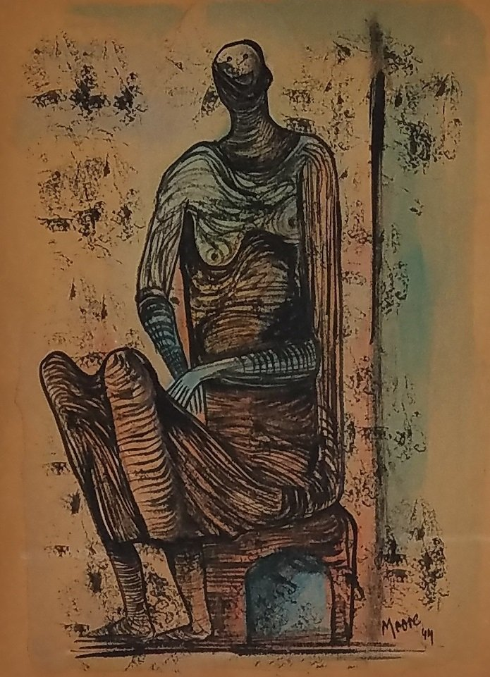 Henry Moore (Mixed media on paper)
