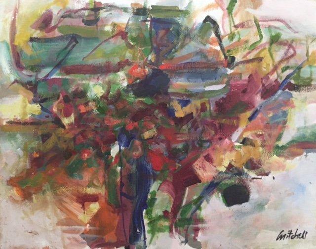 Joan Mitchell (1925-1992) Oil on Cardboard