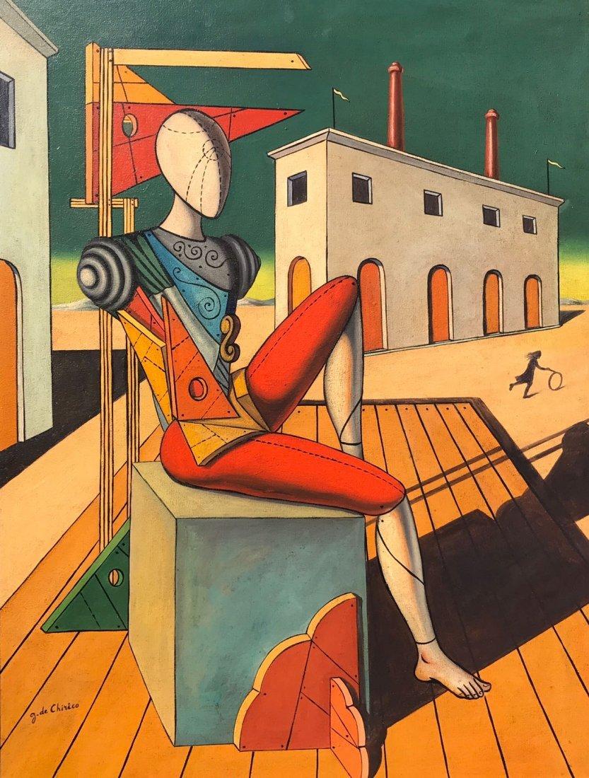 Giorgio De Chirico (1888-1978) Oil On Canvas