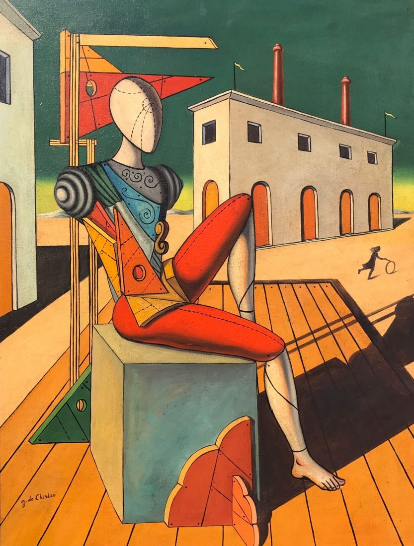Giorgio De Chirico (1888-1978) Oil On Canvas